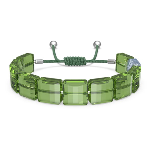 Letra Armband, Frieden, Grün, Rhodiniert - Swarovski, 5615003