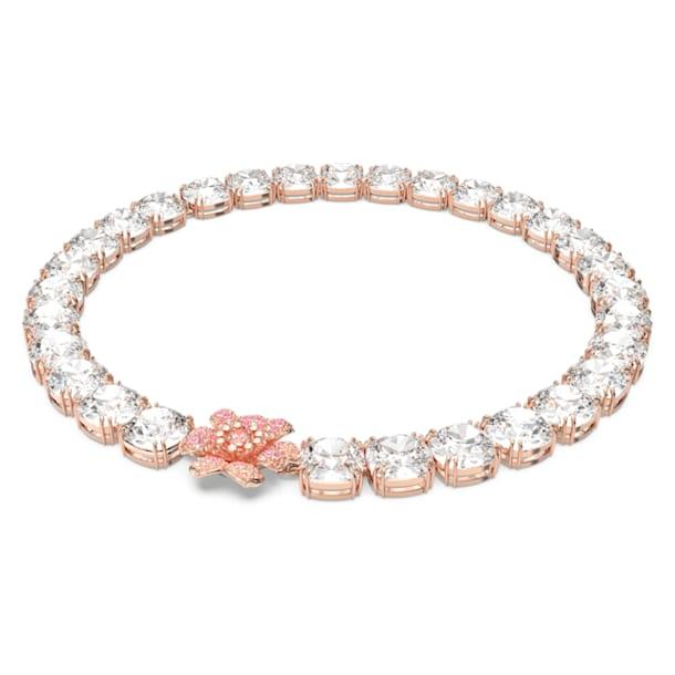 心相莲 项链, 粉红色, 镀玫瑰金色调 - Swarovski, 5615090