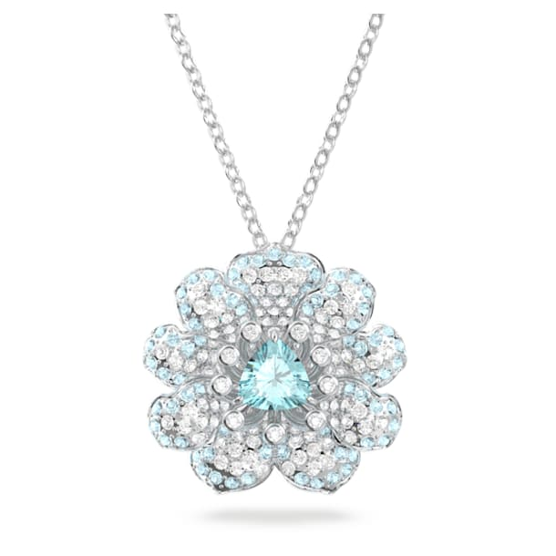 Connexus pendant, White, Rhodium plated - Swarovski, 5615092