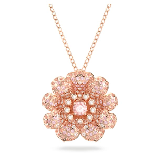 Connexus pendant, Pink, Rose-gold tone plated - Swarovski, 5615093