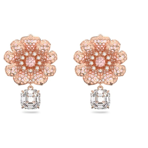 Connexus earrings, Multicolored, Rose-gold tone plated - Swarovski, 5615101
