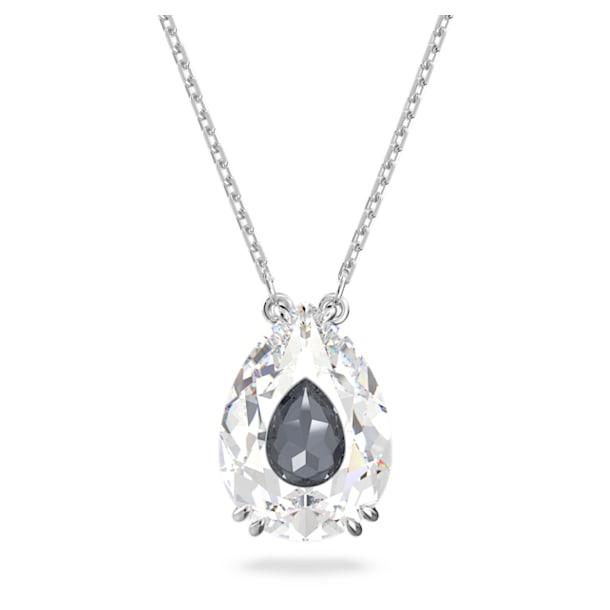 Elegance of Africa necklace, White, Rhodium plated - Swarovski, 5615114