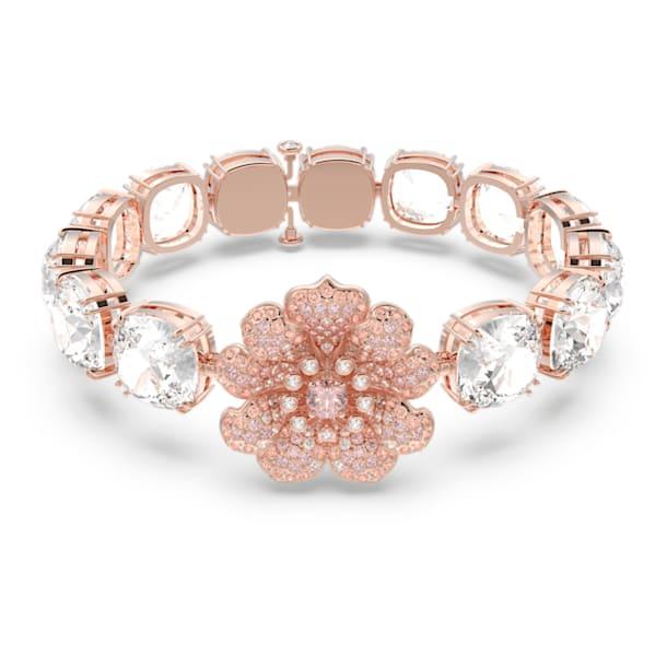 心相莲 手链, 粉红色, 镀玫瑰金色调 - Swarovski, 5615188