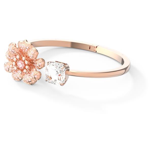 Connexus bangle, Pink, Rose-gold tone plated - Swarovski, 5615192