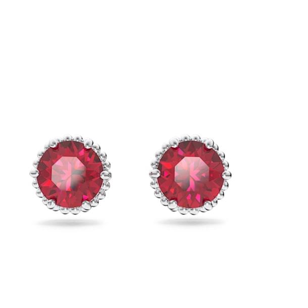 Orecchini Birthstone, Luglio, Rosso, Placcato rodio - Swarovski, 5615515