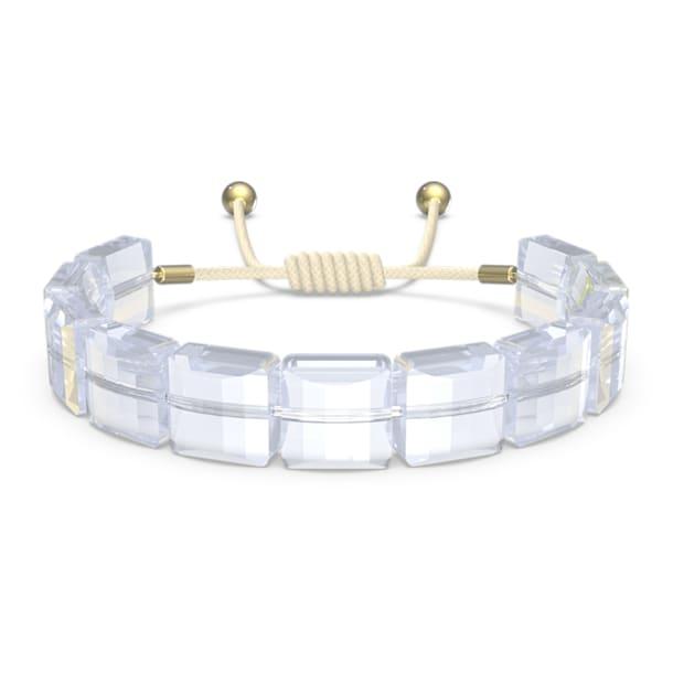 Letra Armband, Stern, Weiss, Goldlegierungsschicht - Swarovski, 5615862