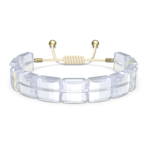 Letra bracelet, Star, White, Gold-tone plated - Swarovski, 5615862