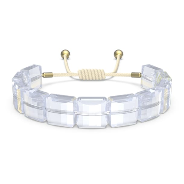 Letra bracelet, Moon, White, Gold-tone plated - Swarovski, 5615863