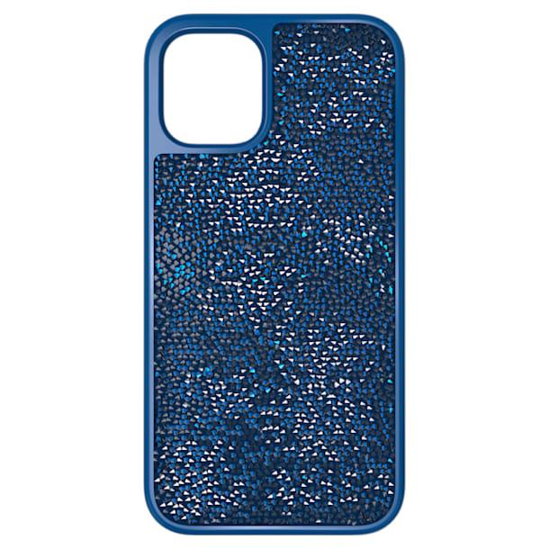 Glam Rock smartphone case , iPhone® 12 mini, Blue - Swarovski, 5616360