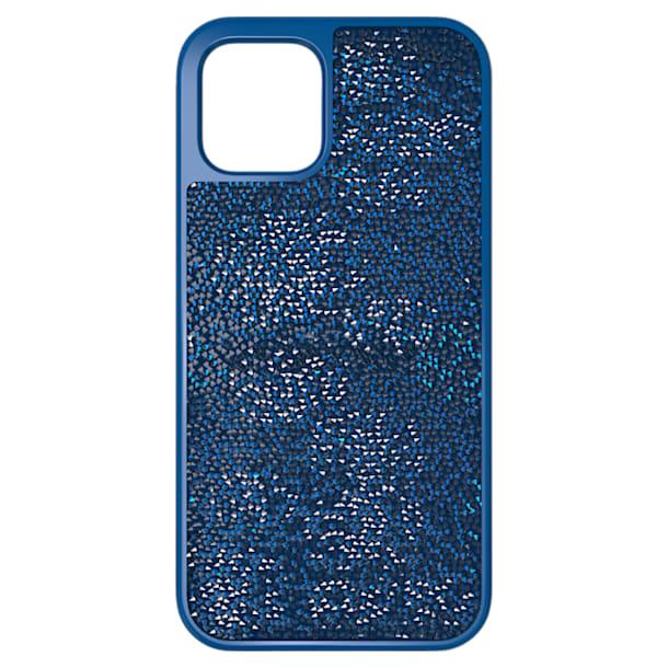 Glam Rock okostelefon tok, iPhone® 12/12 Pro, Kék - Swarovski, 5616361