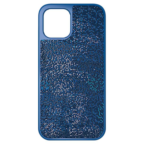 Glam Rock smartphone case , iPhone® 12 Pro Max, Blue - Swarovski, 5616362