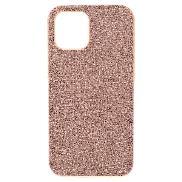 High smartphone case, iPhone® 12 Pro Max, Rose gold tone - Swarovski, 5616364