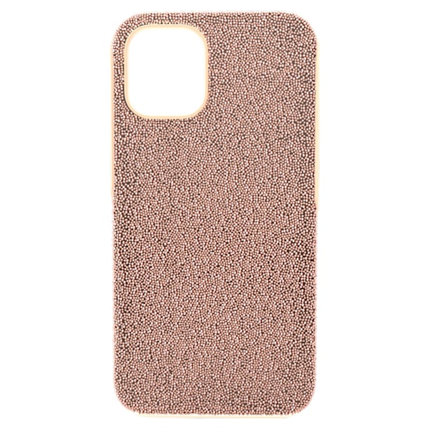 High smartphone case, iPhone® 12 mini, Rose gold tone - Swarovski, 5616365
