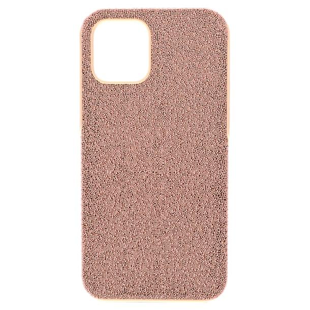 High smartphone case, iPhone® 12/12 Pro, Rose gold tone - Swarovski, 5616366