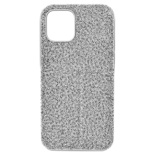High smartphone case, iPhone® 12/12 Pro, Silver tone - Swarovski, 5616367