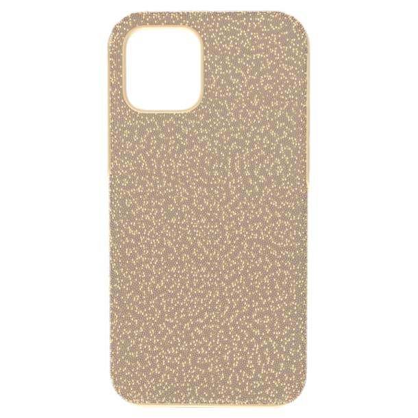 High smartphone case, iPhone® 12/12 Pro, Gold tone - Swarovski, 5616374