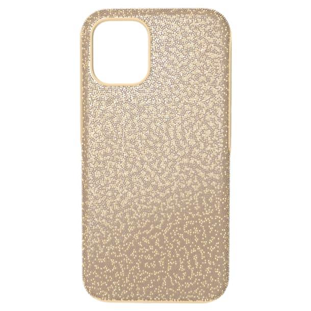High smartphone case, iPhone® 12 mini, Gold tone - Swarovski, 5616376