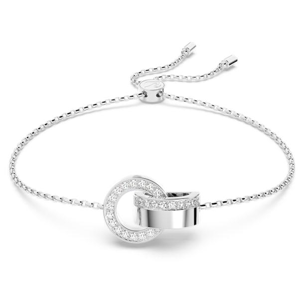 Hollow Armband, weiss, rhodiniert - Swarovski, 5616478