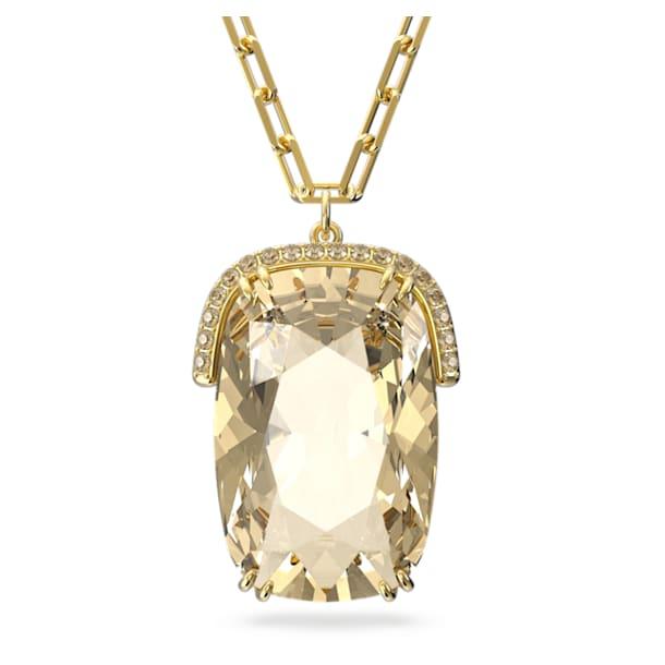 Harmonia pendant, Oversized crystals, Yellow, Gold-tone plated - Swarovski, 5616514