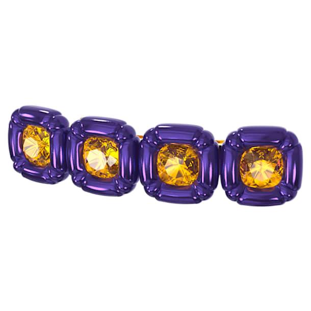 DLC002 Haarclip, Kristalle im Kissenschliff, Violett, Goldlegierungsschicht - Swarovski, 5617238