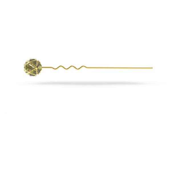 CRA002 hair pin, Green, Gold-tone plated - Swarovski, 5617733