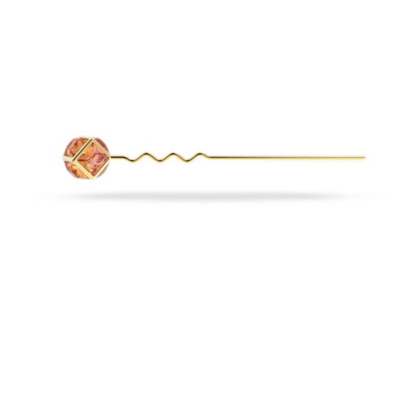 CRA002 haarspeld, Roze, Goudkleurige toplaag - Swarovski, 5617734