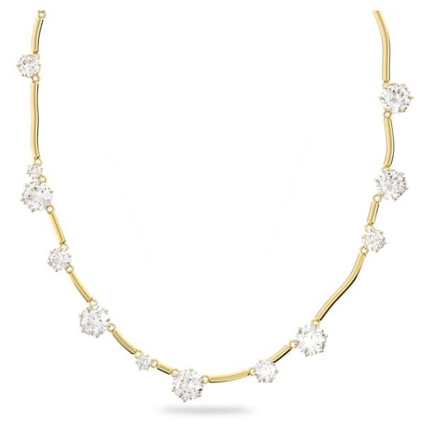 Constella ketting, Kristal met ronde slijpvorm, Wit, Goudkleurige toplaag - Swarovski, 5618033