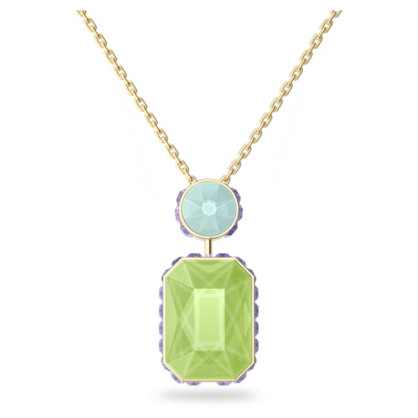 Collar Orbita, Cristal de talla octogonal, Multicolor, Baño tono oro - Swarovski, 5619787