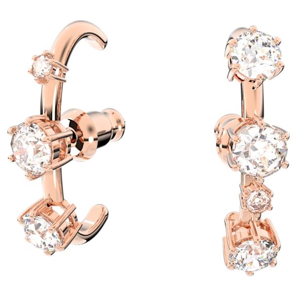 Constella Серьги-кольца, Белый кристалл, Покрытие оттенка розового золота - Swarovski, 5620130