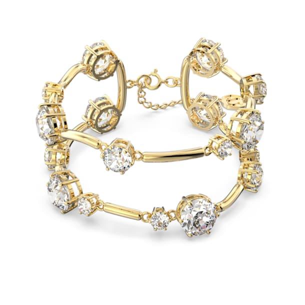 Constella bangle, White, Gold-tone plated - Swarovski, 5620395