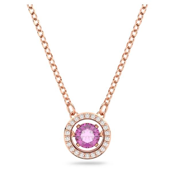 Μενταγιόν Swarovski Sparkling Dance, Μοβ, Επιμετάλλωση σε ροζ χρυσαφί τόνο - Swarovski, 5620551