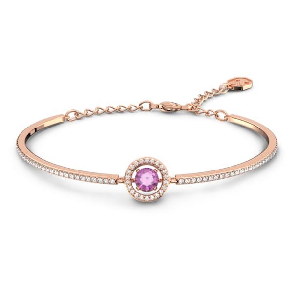 Swarovski Sparkling Dance bangle, Purple, Rose gold-tone plated - Swarovski, 5620554