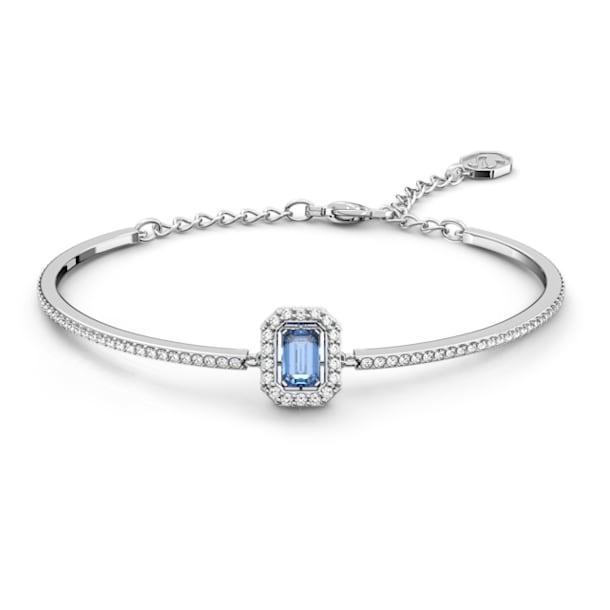 Bracelet-jonc Millenia, Swarovski Zirconia taille octogone, Bleu, Métal rhodié - Swarovski, 5620556