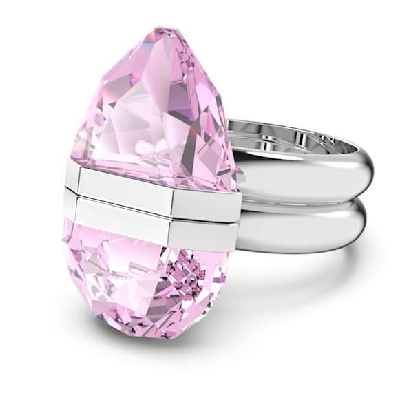 Δαχτυλίδι Lucent, Μαγνητικό, Ροζ, Επιμετάλλωση ροδίου - Swarovski, 5620711