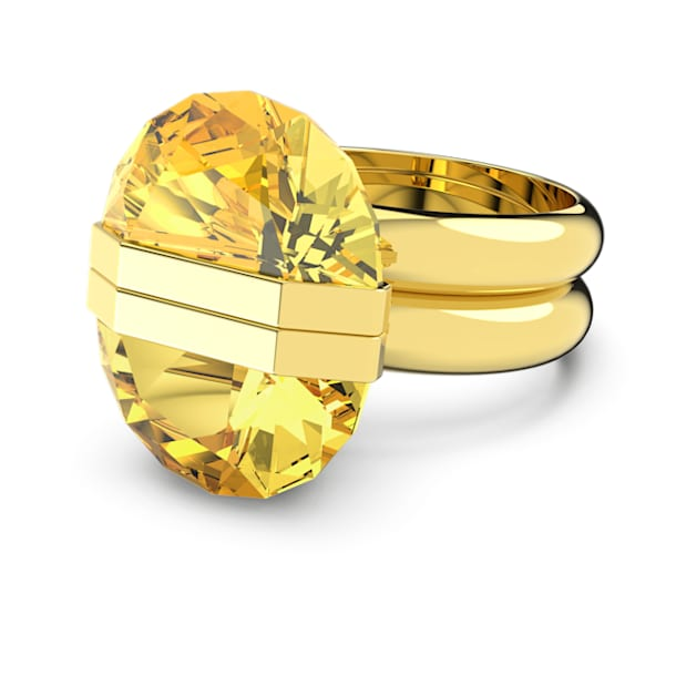 Lucent ring, Magnetic, Yellow, Gold-tone plated - Swarovski, 5621074