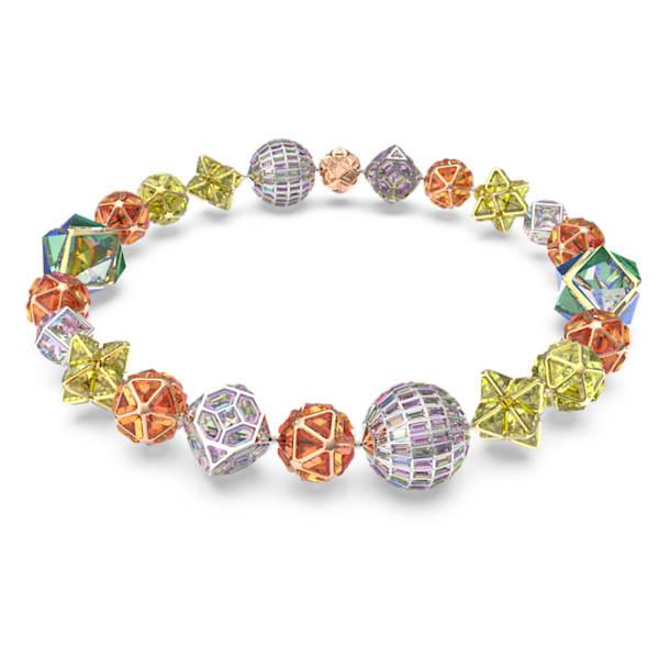 Curiosa necklace, Multicoloured, Mixed metal finish - Swarovski, 5621140
