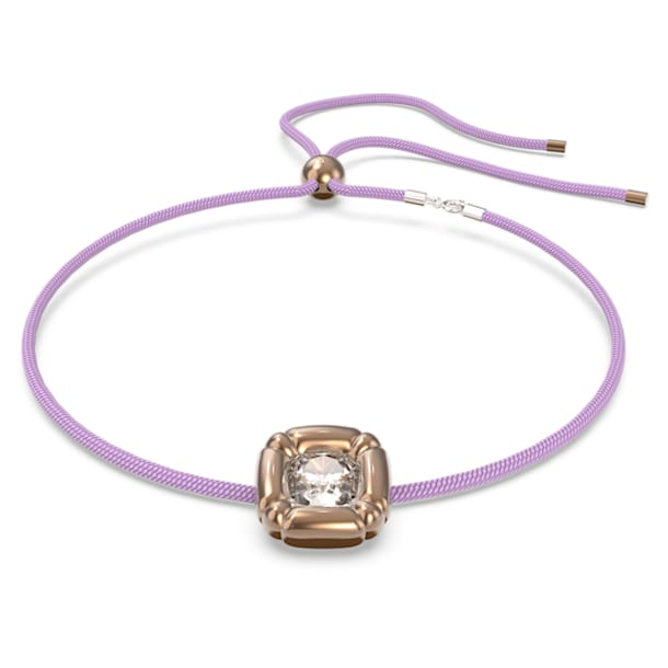 Collar Dulcis, Cristales de talla cushion, Morado - Swarovski, 5622377