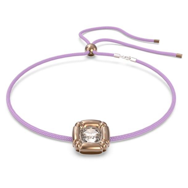 Dulcis necklace, Cushion cut crystals, Purple - Swarovski, 5622377