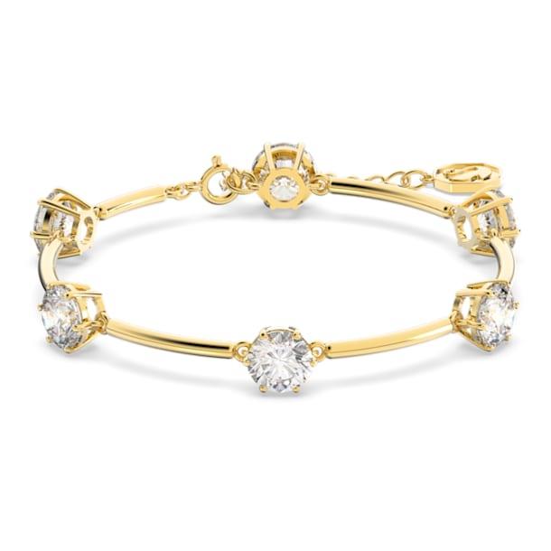 Constella Браслет, Белый цвет, Блестящее покрытие оттенка цвета золота - Swarovski, 5622719