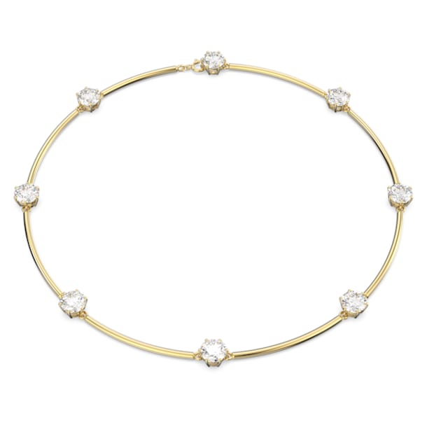 Constella Halskette, Weiss, Glänzende Goldlegierungsschicht - Swarovski, 5622720