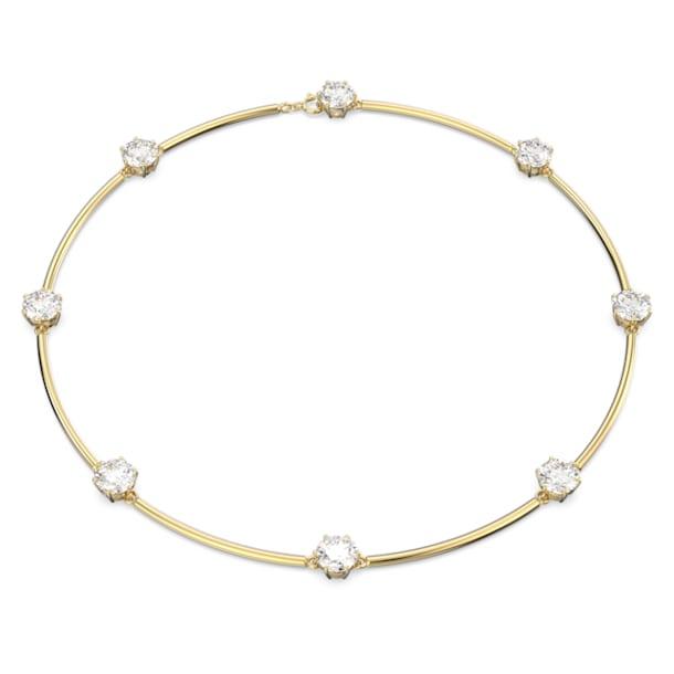 Constella ketting, Wit, Glanzende goudkleurige toplaag - Swarovski, 5622720