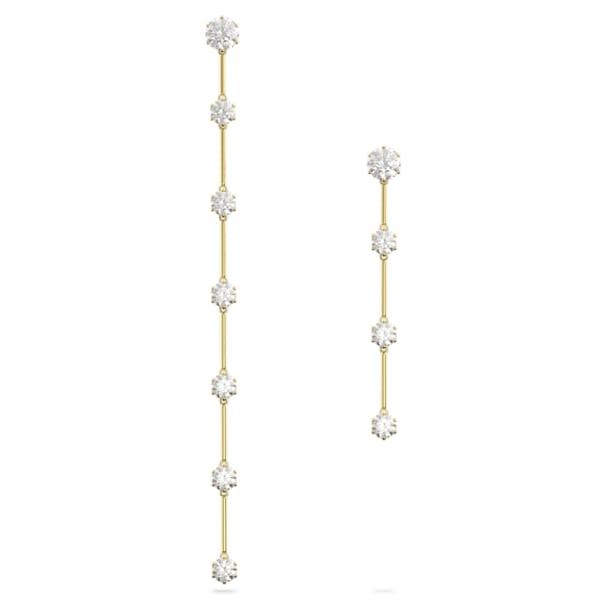 Constella Серьги, Асимметричная форма, Белый цвет, Блестящее покрытие оттенка цвета золота - Swarovski, 5622721