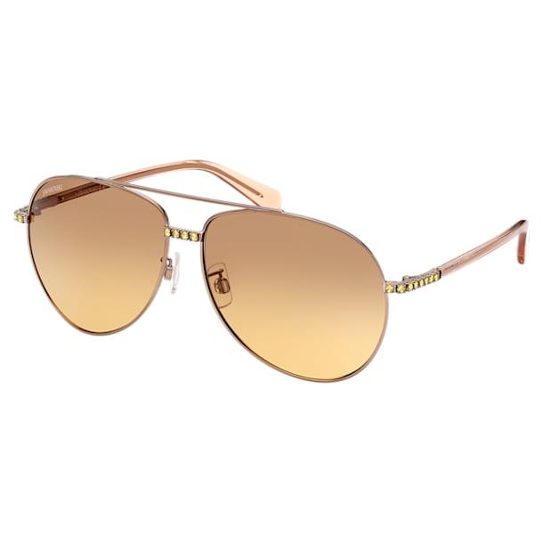 MIL002 zonnebril, Pilot, kleurverloop, Bruin - Swarovski, 5625294