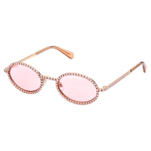 MIL002 sunglasses, Oval, Pavé crystals, Pink - Swarovski, 5625297