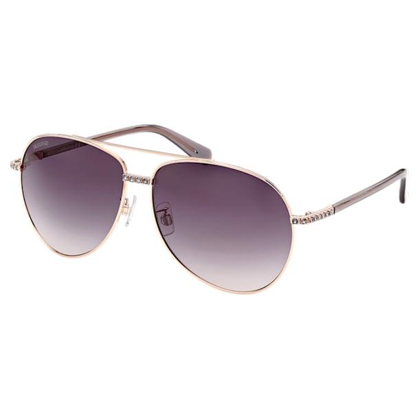 MIL002 sunglasses, Pilot, Gradient tint, Black - Swarovski, 5625299