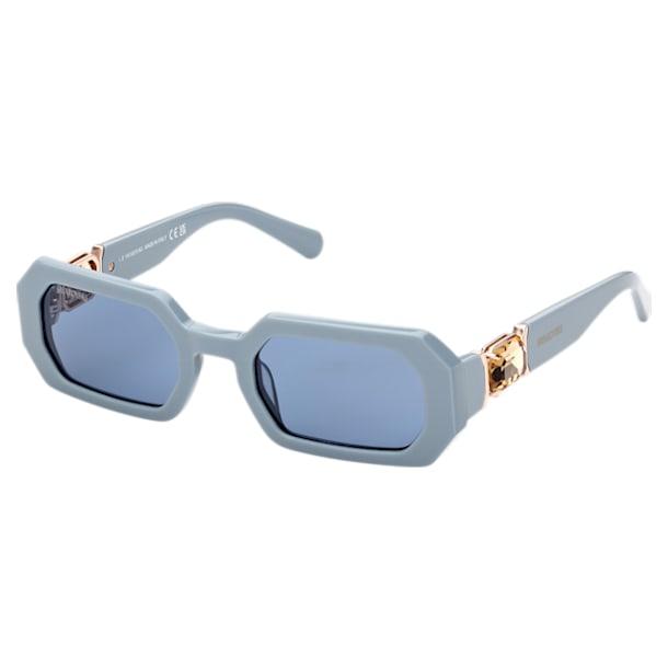 MIL002 zonnebril, Octagon, Blauw - Swarovski, 5625303