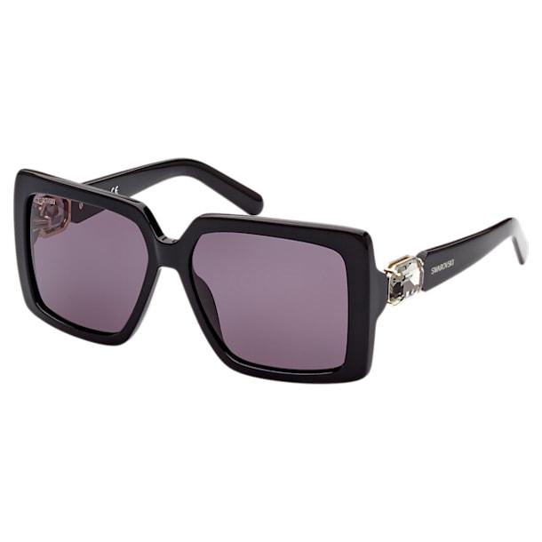 MIL002 zonnebril, Oversized Vierkant, Zwart - Swarovski, 5625305