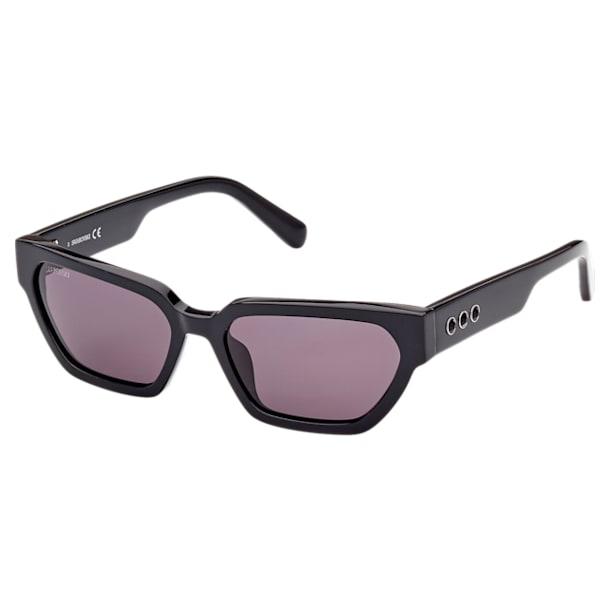 Óculos de sol MIL002, Olho de gato estreito, Preto - Swarovski, 5625306