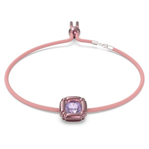 Dulcis necklace, Cushion cut crystals, Pink - Swarovski, 5626400