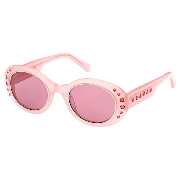 MIL002 Sonnenbrille, Übergröße, Pavé-Kristalle, Rosa - Swarovski, 5627868